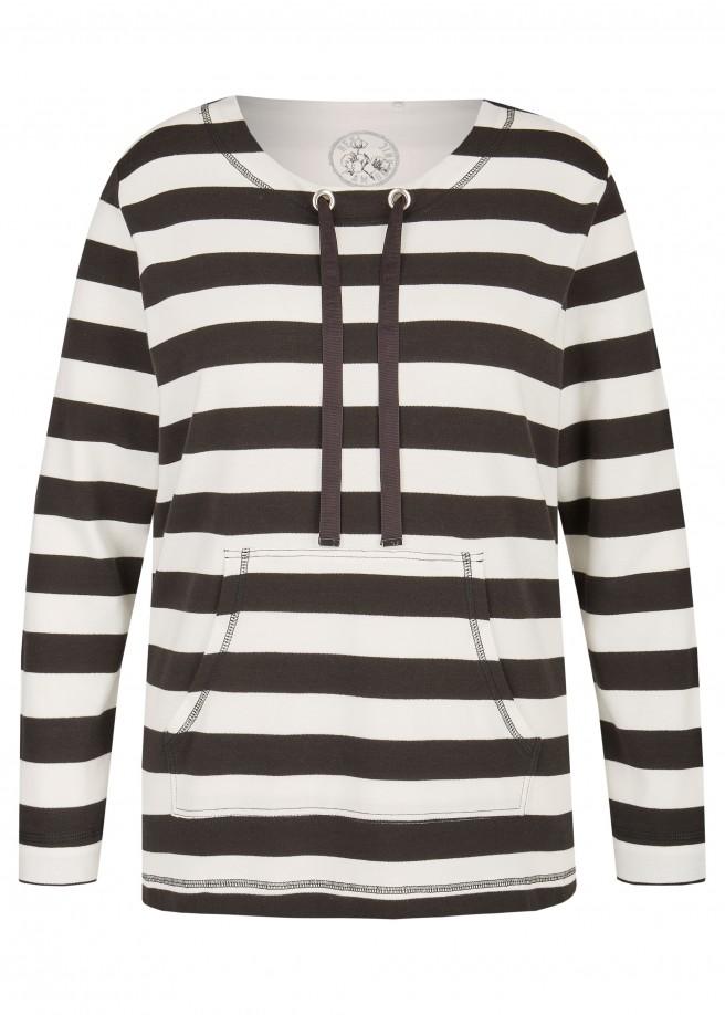 Gestreiftes Sweatshirt aus softer Bio-Baumwolle /