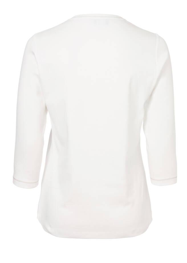 Verspieltes Print-Shirt mit Glitzersteinen /