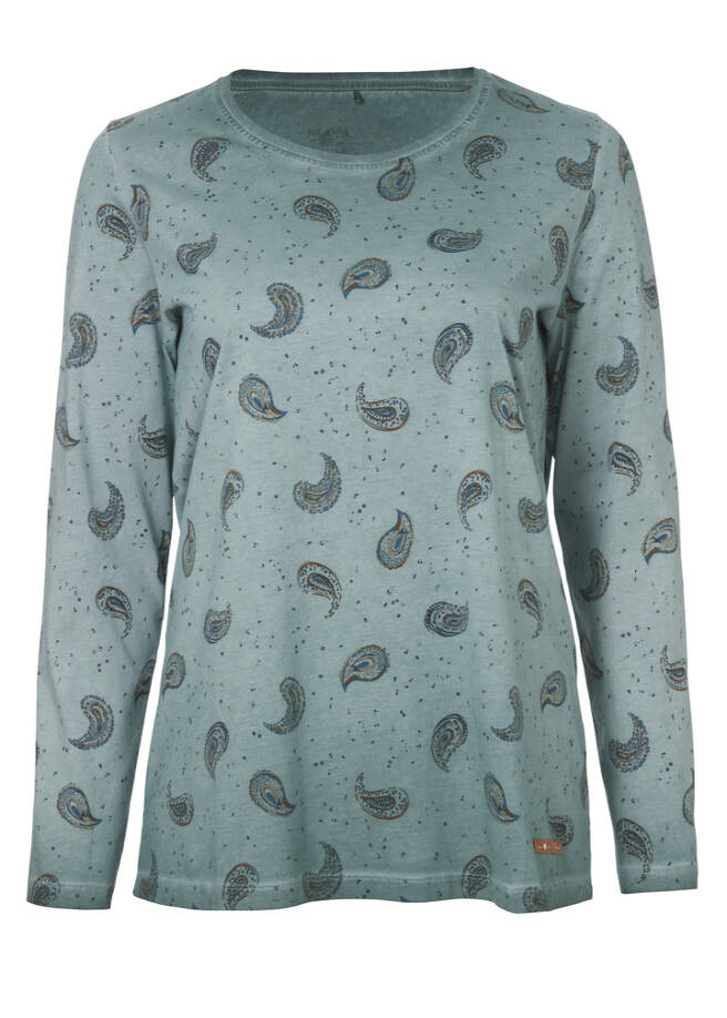 Modisches Print-Shirt mit Paisley-Muster /