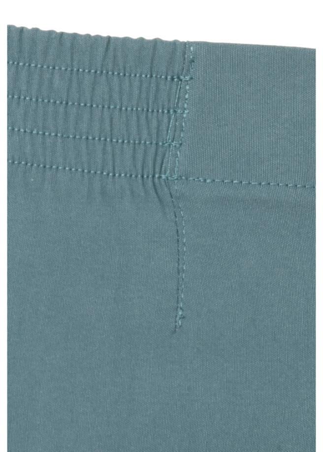 Klassische Stoffhose in unifarbenem Design /
