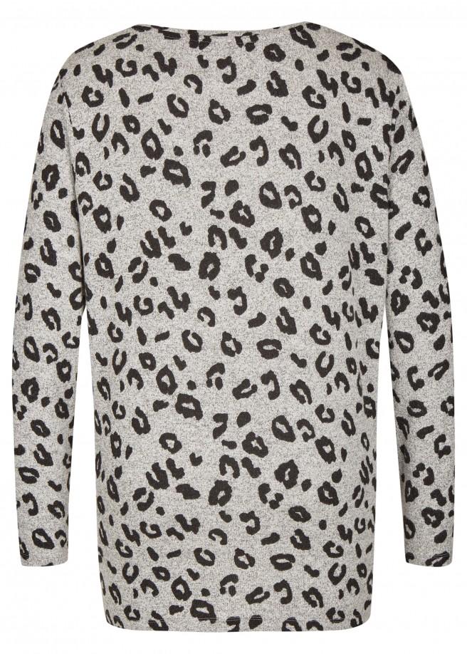 Aufregender Pullover mit Leo-Muster /