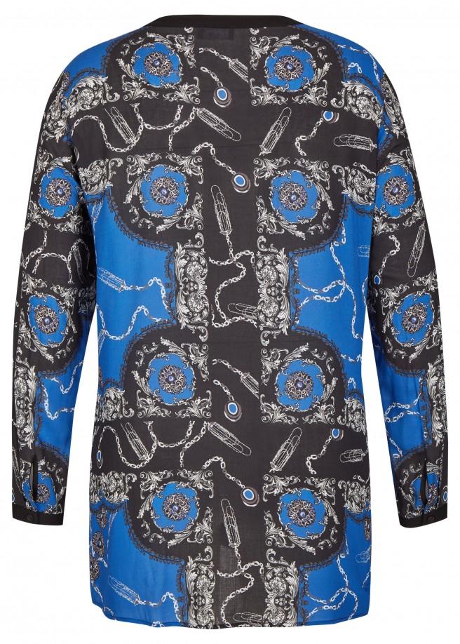 Fließende Bluse mit auffälligem Print /