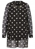 "Zarte Two-in-One Chiffonbluse mit Top ""Polka Dots"" /"