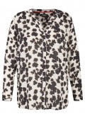 Allover-Print Viskose-Bluse Black & White /