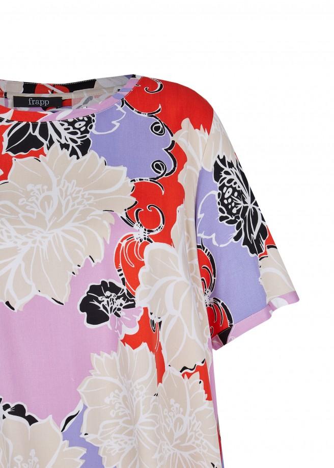 Feminine Shirtbluse mit geblümtem Allover-Muster /