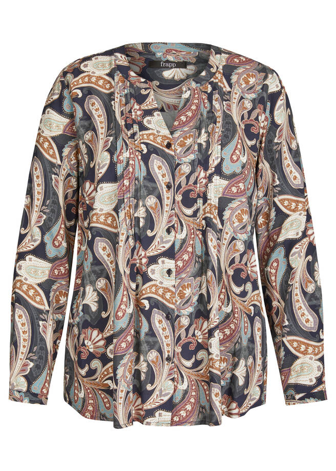 Bedruckte Bluse mit Paisley-Muster /