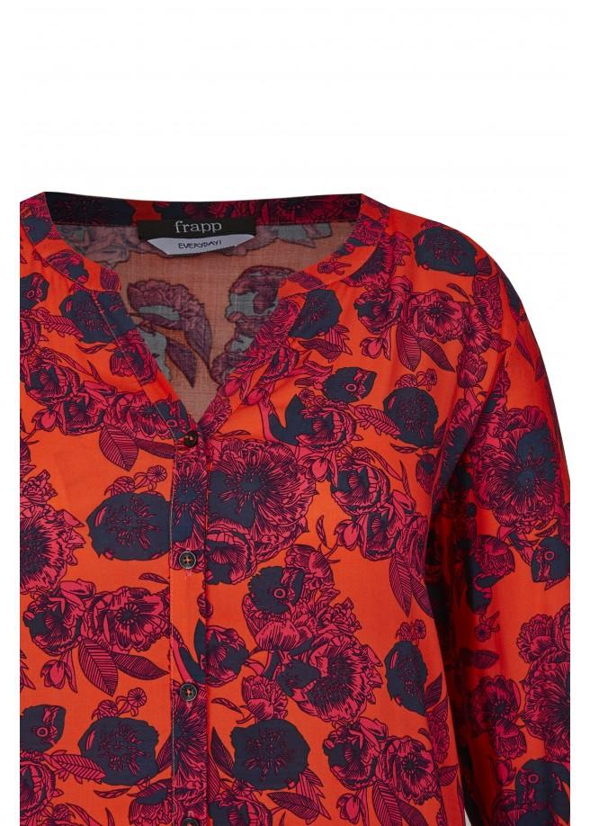 Stilvolle Viskose-Bluse mit Allover-Blumen /