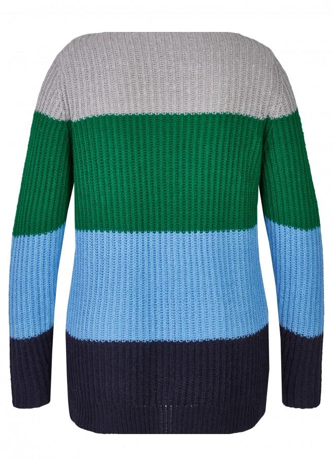 Kuscheliger Pullover mit breiten Ringeln /