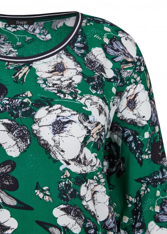 Feminine Bluse mit Allover-Print /