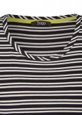 Sportives Shirt mit Allover-Ringeln /