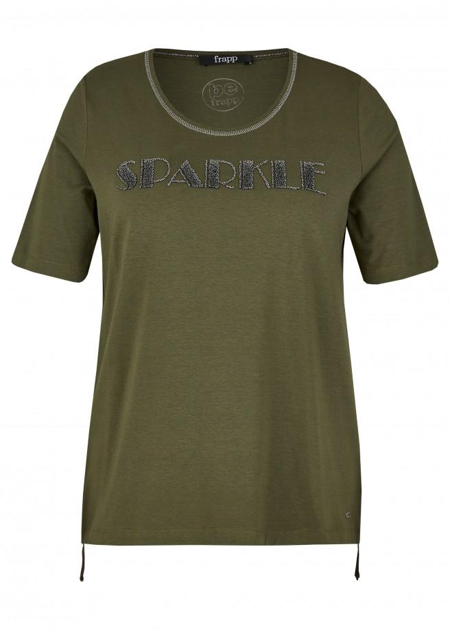 """Supersoftes T-Shirt """"Sparkle"""" mit verziertem Rundausschnitt /"""