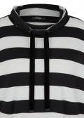 Modisches Stehkragen-Sweatshirt mit Streifen /