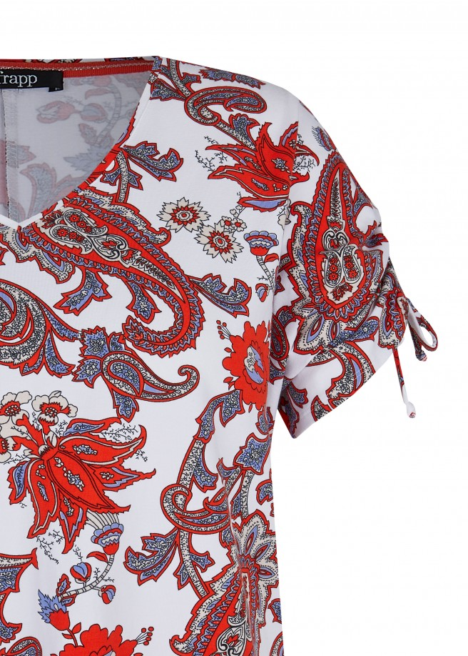 Modisches T-Shirt mit Paisley-Muster /