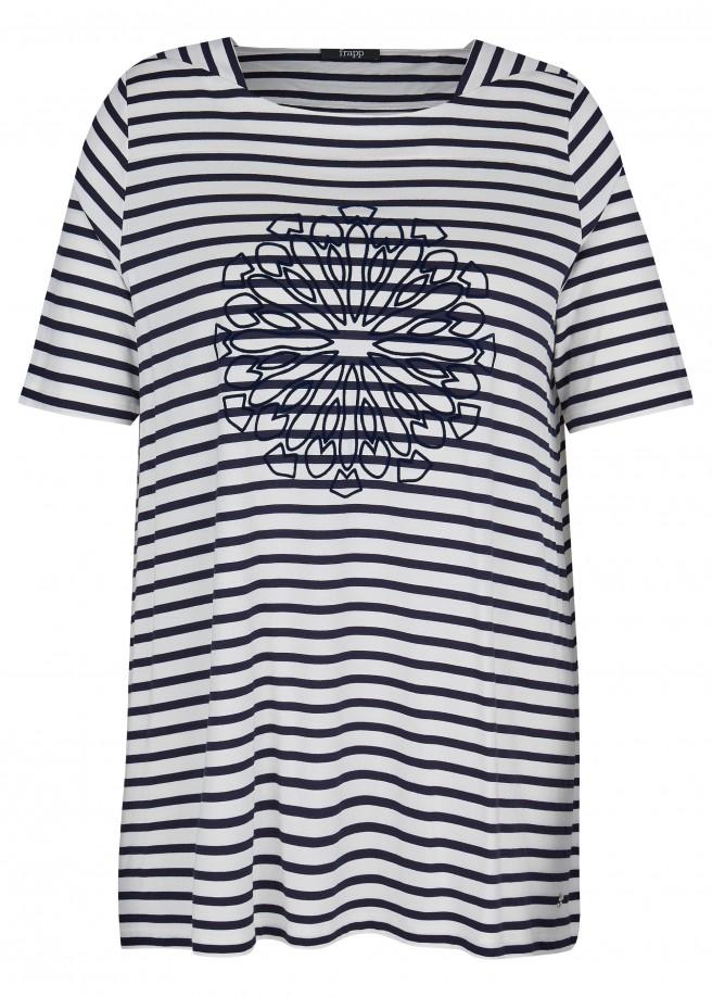 Modernes T-Shirt mit geringeltem Muster /