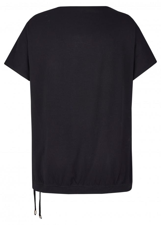 Dezentes T-Shirt mit unifarbenem Stoff /