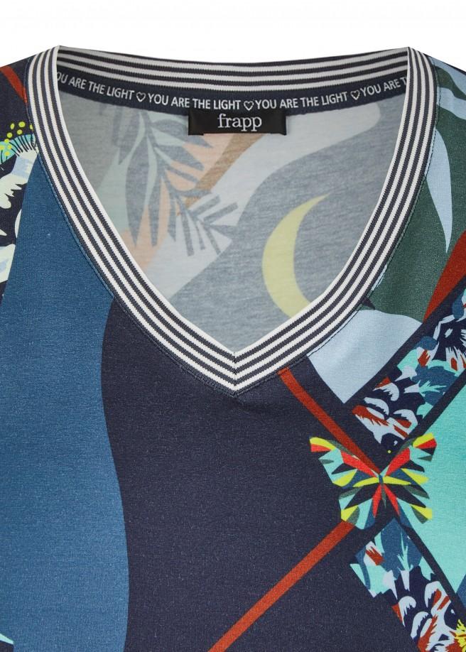 Abstrakte Shirtbluse /