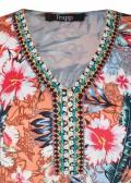 Perlenbesticktes Midi-Kleid /