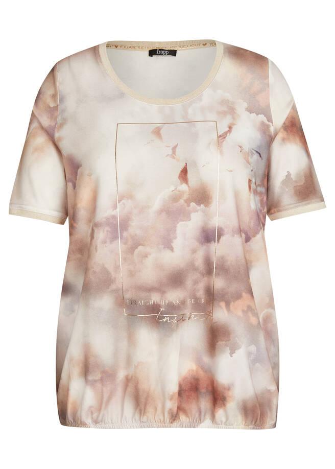 Träumerisches T-Shirt mit Allover-Druck /