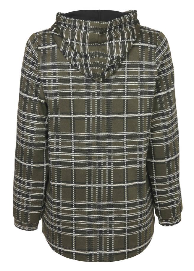 Modernes Sweatshirt mit kariertem Muster /