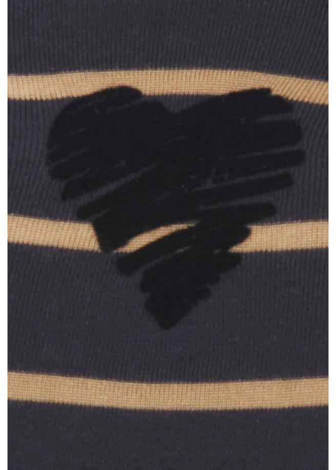 Klassisches Langarmshirt mit gestreiftem Allover-Muster /