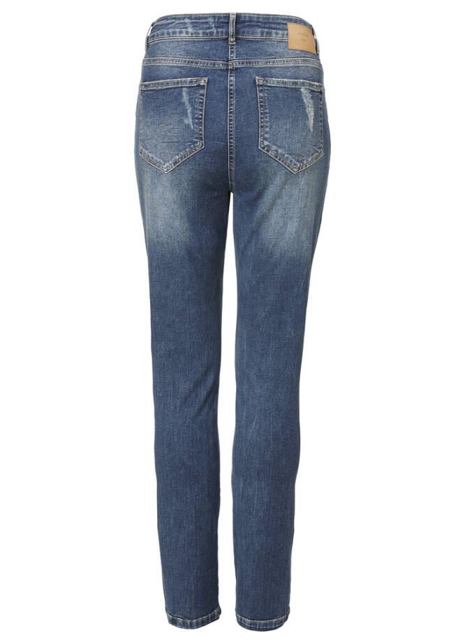 Slim-fit-Jeans mit Destroyed-Elementen /
