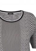 Cooles T-Shirt mit Zickzack und Streifen /