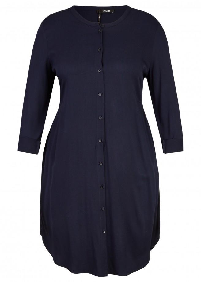 Schlichtes Hemd-Kleid mit Knopfleiste /