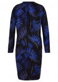 Elegantes Hemd-Kleid mit foralem Allover-Print /