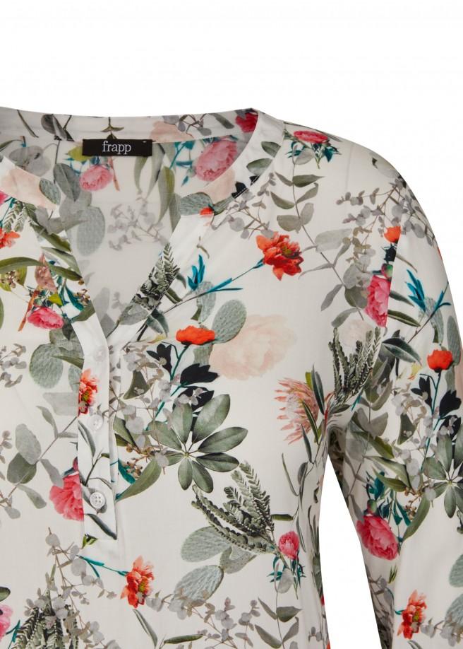 Sommerliche Schlupf-Bluse mit Allover-Blumen /