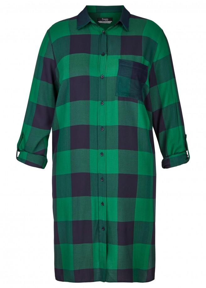 Lässiges Hemd-Kleid mit großem Karomuster /
