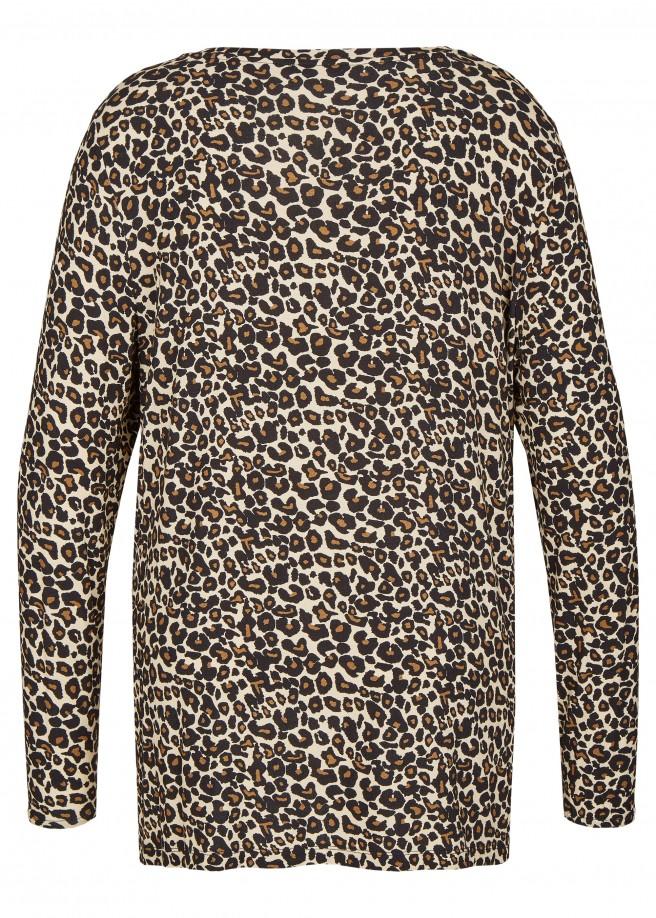 Modernes Langarmshirt mit Leoparden-Print /