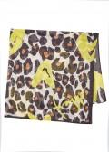 Verspieltes Tuch mit Leoparden-Print /