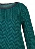 Modische Bluse mit getupftem Zick-Zack-Muster /