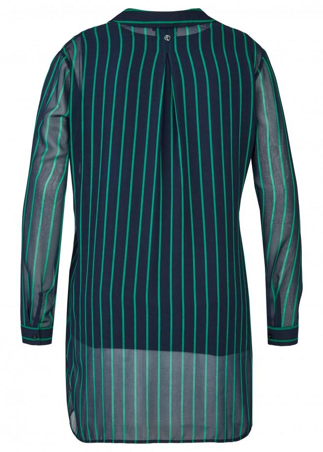 Transparente 2-in-1-Bluse mit Streifen /