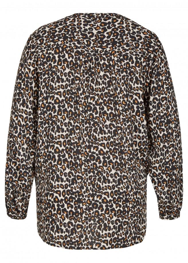 Angesagte V-Bluse mit Leoparden-Muster /