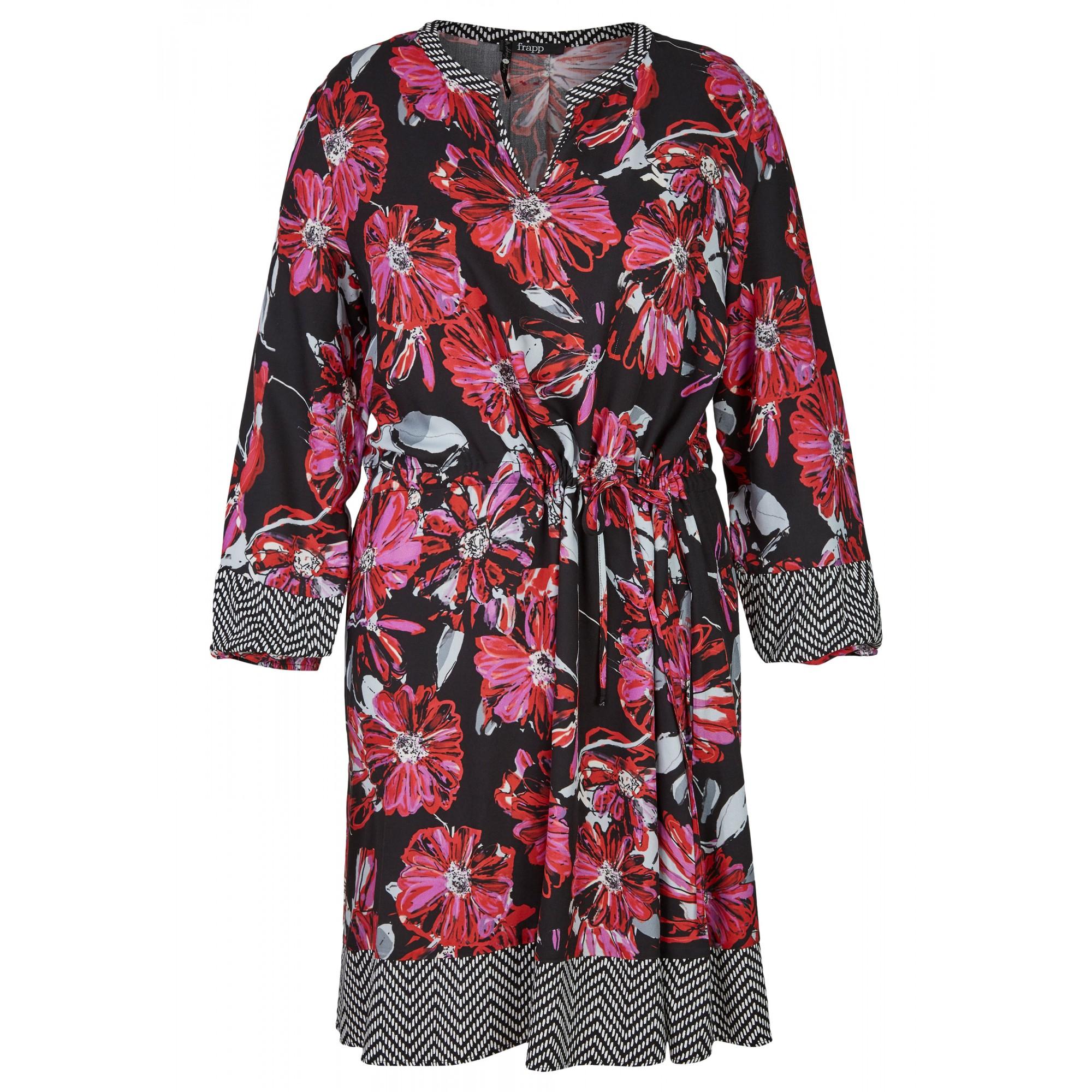 - Topmodisches Blusen-Kleid mit Allover-Mustermix