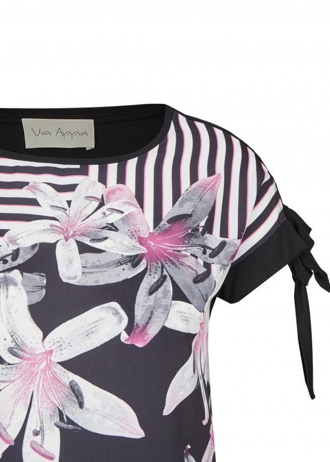 Romantisches Blusen-Shirt mit Front-Print /