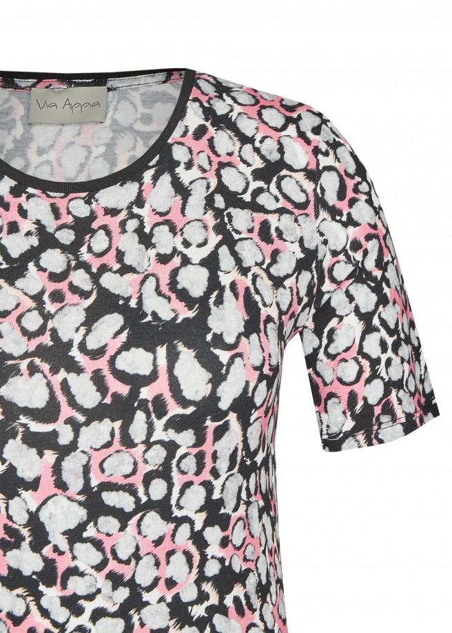 Trendiges T-Shirt mit Leo-Muster /