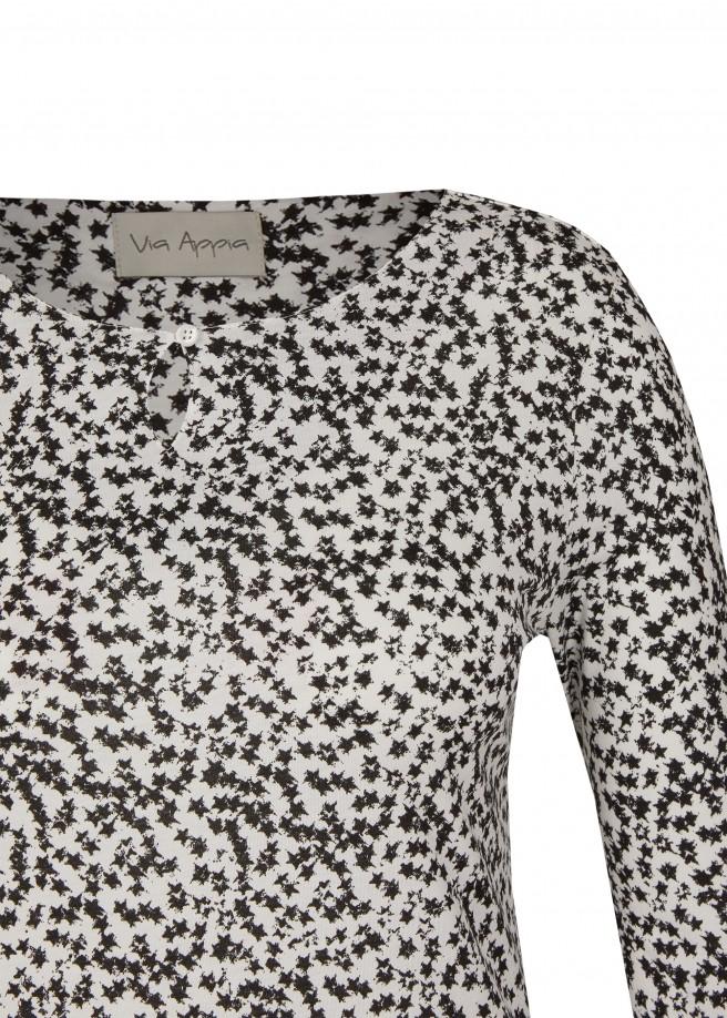 Süßes Shirt mit zweifarbigem Print /
