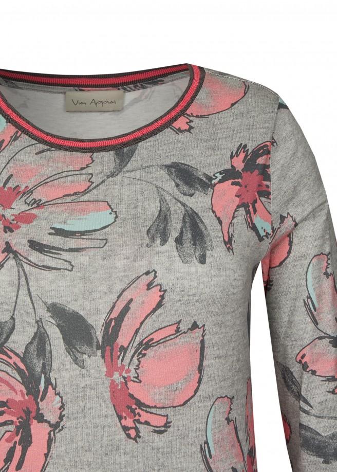 Feminines 3/4-Arm-Shirt mit Blumenprint /