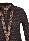 Stylische Bluse mit Leo-Schluppe /