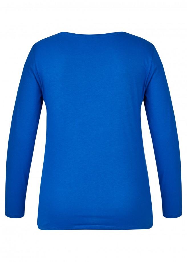 Zartes Blusen-Shirt mit Frontprint /