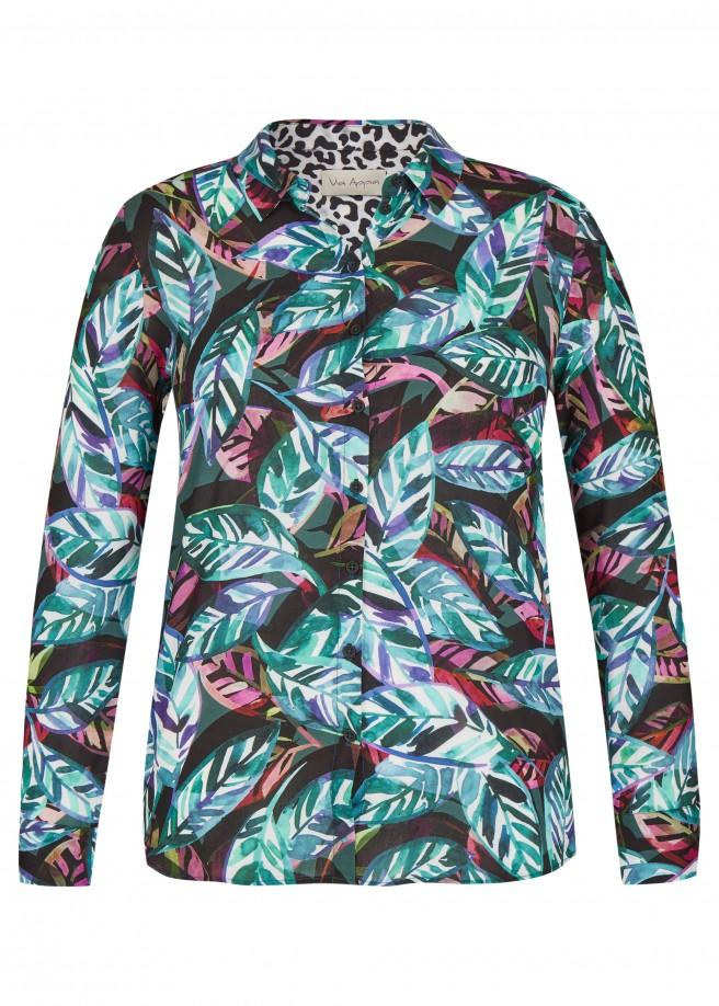 Moderne Bluse mit Allover-Print /