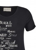 Verspieltes T-Shirt mit Schrift /
