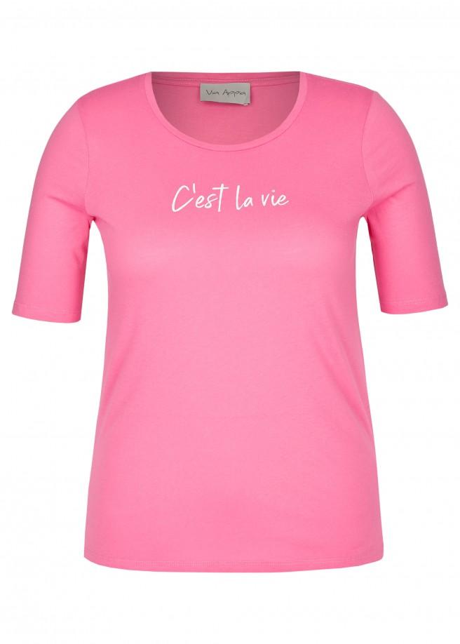 """Modisches T-Shirt """"C'est la vie"""" /"""
